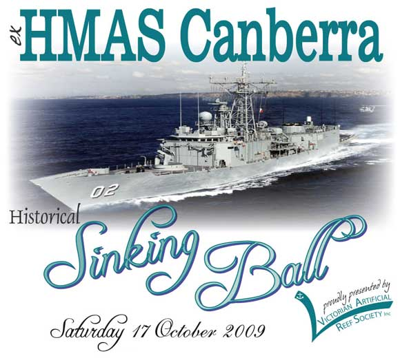 ex HMAS Canberra Historical Sinking Ball